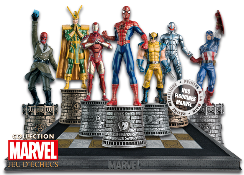 marvel jeu d 39 checs belgique h ros de comics eaglemoss. Black Bedroom Furniture Sets. Home Design Ideas
