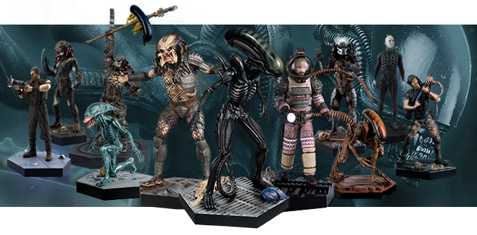 Collection officielle de figurines Alien et Predator