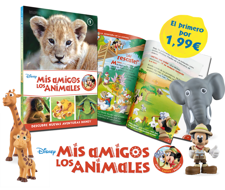 <p style=color:#c72a21;font-weight:700;font-size:5.2rem;line-height:60px;>Disney<br>Mis amigos los animales</p>