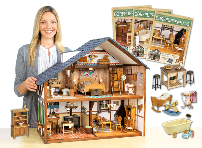 so gestalten sie ihr dorfpuppenhaus modelle modellbau eaglemoss. Black Bedroom Furniture Sets. Home Design Ideas